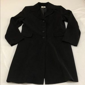 Gallery Single Breasted Trench Coat, Black Size M